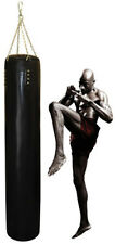 UN-filled Muay Thai Heavy Bag/Punching Bag Leather * Includes Chain, Fast Ship