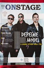 On Stage Magazine 63 DEPECHE MODE cover NEGRAMARO BLUR WILLIAMS 2013 RARO !