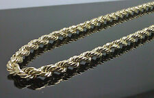 "10K Men's Yellow Gold Rope Chain 6mm, 22"" Long Cuban, Franco, Link, Brand New"