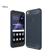New Carbon Fiber Texture Slim TPU Back Cover Case Skins For Huawei Phones