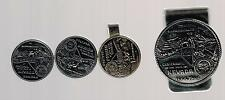 1864 - 1964 NEVADA CENTENNIAL 100 YEARS MONEY CLIP, TIE CLASP & CUFF LINKS SET!