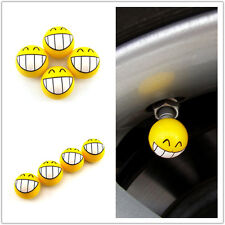 Ball Laugh Face Expression 4 x Car SUV Wheel Tire Valve Stem Air Dust Caps Cover