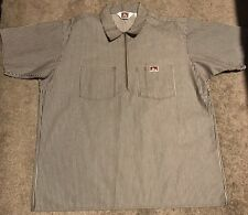 Vintage Ben Davis Zipper Shirt USA 90s Urban Hiphop Fashion Work XL Construction