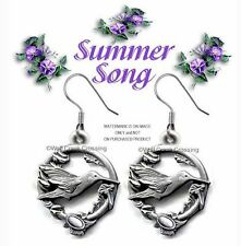 SUMMER SONG HUMMINGBIRD EARRINGS - DIAMOND CUT HUMMING BIRD JEWELRY -  SALE *