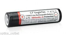 Eagletac 17650: 3.7V 1600mAh PCB Li-Ion Rechargeable Battery