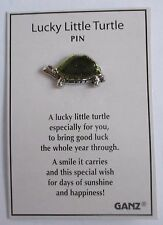d Lucky little Turtle GOOD LUCK PIN Ganz special wish sunshine happiness