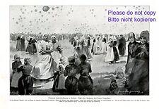 Globo lejos vuelo de competencia en volendam XL 1923 impresiones Holland Edam +