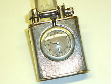 Lucerne art deco 935 Silver watch lighter w. pragos London Watch - 1930-Germany