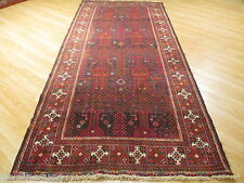 9 FEET RUNNER Unique Persian Museum Baluch Hand-made-knotted Wool Rug 582829