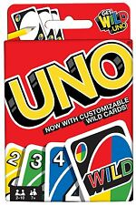 UNO CARD GAME - New Version with 4 extra Wild Cards, boxed , FREE EXPRESS DEL