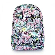 Disney Ariel Comic Book Print The Little Mermaid Nylon Backpack by Loungefly
