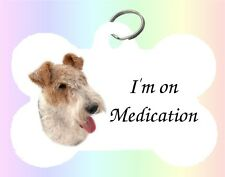 Fox Terrier Dog Puppy Dble Sided Personalised Pet ID Tag - M by paws2print