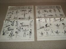 Rare 2 Lot Joe Weider Wall Charts Weider System Of Progressive Barbell Exercise