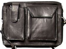 Genuine Leather Executive Unisex SHOULDER BAG Organizer # 3645