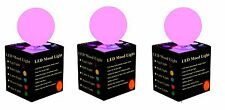 3 X Ball Mood Light Colour Changing LED Night Lamp Gift