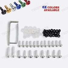Silver Fairing Bolts Kit for Kawasaki Ninja ZX6R/636/ZX6RR 2003 2004 2005 2006