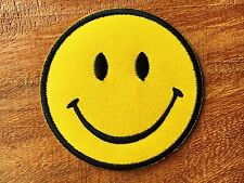 New Smiley face retro hippie fun smile iron-on patch