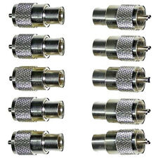 10 Pack of x PL259 Male Plugs Connectors for 6mm (e.g. RG58 / COAX) Cable