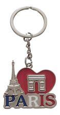 Porte-clés, bijou de sac, Tour Eiffel et Arc de triomphe, France, Paris.