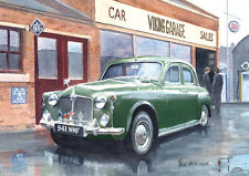 Rover P4 100 Auntie British Classic Car Birthday Fathers Day Blank Card