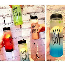 New Clear Color Special My Bottle Sport Plastic Fruit Juice Water Cup 550ml