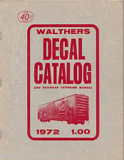 8792 Bruce Bill Walthers 1972 model railroad decal catalog Milwaukee, WI