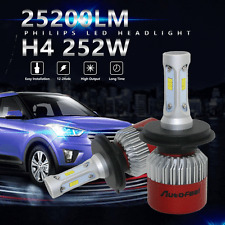 PHILIPS 252W 25200LM H4 9003 HB2 LED Headlight Kit Bulbs Hi/Lo Beam 6500K Canbus