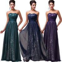 Vintage Long Bridesmaid Masquerade Formal Gown Ball Party Evening Prom Dresses