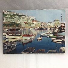 Vintage Colour Postcard Harbour View Mevagissey Cornwall