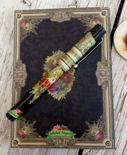 New Michal Negrin Notepad and Pen, Victorian Flowers, Israel,