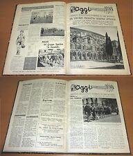 """Rivista """"Oggi per Domani"""" - Annate complete 1958 e 1959 - Rilegate"""