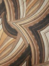 Brown Abstract 4 Way Stretch Lycra Fabric Q1079 BRN