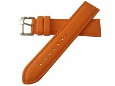 Hadley Roma Lorica Men's Vegan Leather Dive Watch Band Strap Orange 22mm MS739