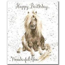 Wrendale buon compleanno biglietto di cavallo è meraviglioso per Hannah Dale Made in UK