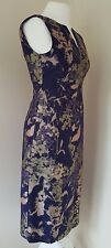 New Hobbs Rubis Dress Midnight Multi Colour Size 8