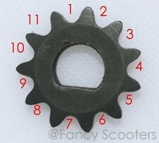 Drive Sprocket 25H x 11 Teeth Single D, e-scooter (ID=10mm)