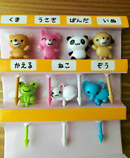 Cute Mini Animal Food Picks for Japanese Bento Lunch Box Panda Frog Cat Bear Dog