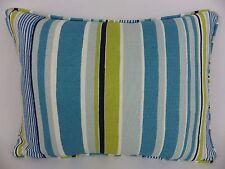 GP & J Baker Lifestyle Malllow Lumbar Pillow Cushion Blue Linen piped Stripe