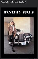 "Poverty Sucks- Female The Famous Poster"" Limited Offer Car Poster"