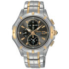 NEW Seiko SNAE56 Coutura Two-Tone Chronograph Stainless Men's Watch - GREAT GIFT