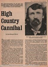 High County Cannibal;Adas,Anderson,Bonfils,Brown,Cabazon,Carr,Chief Ouray,