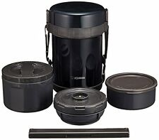 Zojirushi Stainless Thermos Food Jar Lunch Box Navy Black SL-GG18-BD