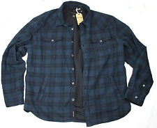 NEWT100%AUTH TRUE RELIGION WESTERN  SHIRT JACKET BLUE ACE PLAID W LINING XXXL