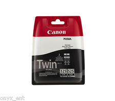 Genuine Canon PGI-525 Twin Black Ink Cartridge Pixma iP4950 iP4850 iX6550 MG5150