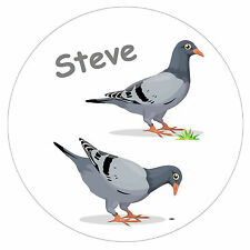 PIGEONS -  PERSONALISED NOVELTY FRIDGE MAGNET - ANY NAME - GIFT - BRAND NEW