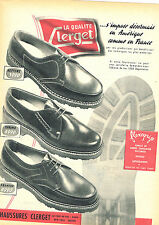 PUBLICITE ADVERTISING 124  1954  CLERGET  chaussures homme FLEXOGRIP