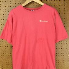 vtg 90's CHAMPION tee t-shirt size LARGE salmon pink clay faded distressed