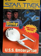 STAR TREK  U.S.S. ENTERPRISE  -1979 DINKY TOYS # 803  DIE-CAST Carded NOS