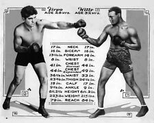 1924 Boxers LUIS FIRPO vs HARRY WILLS Glossy 8x10 Photo Match-Up Poster Print