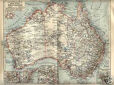 1893= AUSTRALIA= Antica Mappa = OLD MAP